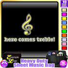 Music Fun Here Comes Treble - Sheet Music & Accessories Bag by MusicaliTee