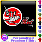 Bagpipe Reel Thing - RED Accent - Custom Music T Shirt 5yrs - 6XL by MusicaliTee