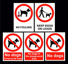 No Dogs In Playground / No Fouling / Except Guide Dogs / Keep On Lead Signs