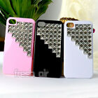 Punk Nails Pyramid Studs Studded Rivet Bling Hard Case Cover For iPhone 4 4G 4S