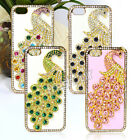 Jewelled 3D Peacock Crystal Sparkle Diamond Hard Case Cover Skin For iPhone 5/5s