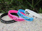 WWJD What Would Jesus Do silicone custom wristband bracelet band