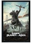 New Black Wooden Framed Dawn of the Planet of the Apes Poster