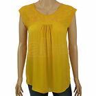 Ladies BHS Summer Sun Cap Sleeve Top Smart Casual Work Black White Yellow