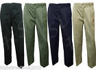 Mens Plan Elasticated Waist Casual Rugby Trousers smart work pants size