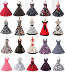 London SUPER FAST ROCKABILLY Vintage 50's 60 style Floral Party Prom Swing dress