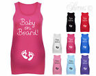 BABY ON BOARD BABY FEET CUTE DESIGNER MATERNITY VEST TANK TOP BABY SHOWER GIFT