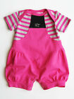 Pink & Gray Baby Girls Romper Spring Summer Kasha by Kidcuteture $52 NWT