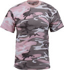 Mens Subdued Pink Camouflage Tactical Military Short Sleeve T-Shirt