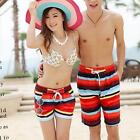 Fashion Couple Striped Beach Surf Board Shorts Men/Women Swim Pants Trunks L-XXL