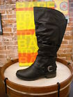 Bare Traps Sheridan BLACK Ruched Riding Boot NEW
