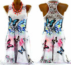 Women's Butterfly Tunic Dress Lace Back US Sizes 4-12-FRANCINE-CharlesElie94
