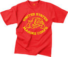 Red USMC Bulldog Vintage Short Sleeve T-Shirt