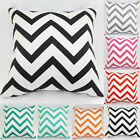 Vintage Waved Stripes Linen Cotton Cushion Cover Throw Pillow Case Sofa Home #1