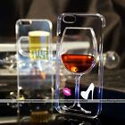 "3D Liquid Quicksand Wine Glass Cocktail Cover Case For iPhone 5 5S 6 4.7""/6 Plus"