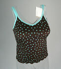 AMOENA POST-SURGERY TANKINI TOP BROWN/BLUE POCKETED BOTH SIDES SIZES 36-40 C-CUP