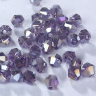 Fashion DIY jewelry 3/4mm100/1000pcs Glass Crystal #5301 Bicone Beads Violet AB