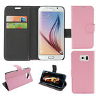 PU Leather Wallet Holder Flip Folio Card Stand Case Cover For Samsung Galaxy S6