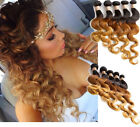 Top Quality US 3Bundles Ombre Brazilian Human Hair Extension 1B/4/27 Body Wave