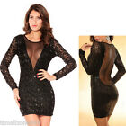 Womens Sexy Backless Deep V Low-cut Sequin Sizzling Cocktail Party Club Dress