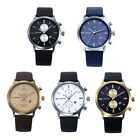 1pc Fashion Men Casual Waterproof Date Leather Military Japan Watch Gift Cheap