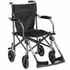 TraveLite Transport Lightweight Folding Compact Wheelchair in a Bag 18 inch Seat