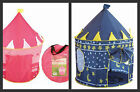 POP UP INDOOR OR OUTDOOR TENT PLAYHOUSE- PINK PRINCESS CASTLE/ BLUE MAGIC WIZARD
