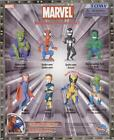MARVEL SPIDERMAN X-MAN MINI BOBBLEHEAD FIGURES COLLECTION NEW COMPLETE SET OF 8