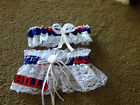 Buffalo Bills Football NFL Bridal Lace trim Garter Set White Regular / Plus size