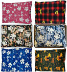 Removable Zipped Luxury PET CUSHION LARGE Dog Bed Pillow Washable Cover Filled