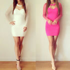 NEW Sexy Women Short Cocktail Gown Party Bodycon Pub Bandage Mini Prom Dress S-L