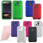 For Kyocera Hydro ICON C6730 Cover Hard Snap On Rubber Case + Screen Protector