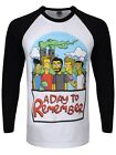A Day To Remember Simpsons Men's Black & White ADTR Baseball T-shirt