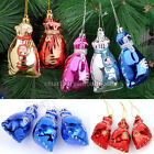 3PC Glitter Bag Colorful Hanging Decoration Christmas Tree Home Wall Ornaments