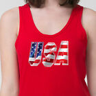 USA Patriotic Flag Red White and Blue Tee Stars and Stripes America Adult Tank