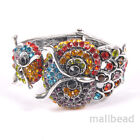 Wholesale Womens Punk Owl  Fashion Jewellery Multi-Coloured Bracelet Bangle NEW