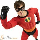 Mens Mr Incredible Deluxe Muscle Chest Fancy Dress Costume Halloween Outfit