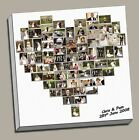 """SPECIAL OFFER PERSONALISED HEART SHAPED 20""""x20"""" PHOTO CUSTOM CANVAS PRINT"""