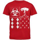 Biohazard Festive Blocks Ugly Christmas Sweater Red Youth T-Shirt