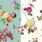 New Arthouse Charmed Flower Pattern Bird Butterfly Rose Floral Motif Wallpaper