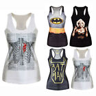 European Style Womens Sexy Slim Printing Sleeveless Cotton Vest T-shirt Tops New
