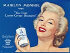 New Luster-Creme Shampoo Marilyn Monroe Metal Tin Sign