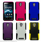 For ZTE Engage V8000 Cricket Apex Hybrid Cover Gel Silicone Case