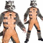 Boys Deluxe Rocket Raccoon Guardians Of The Galaxy Fancy Dress Costume Outfit