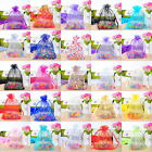 100 Drawable Organza Wedding Gift Bags&Pouches 9x12