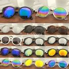 New Womens Mens Vintage Retro Round Lens Mirror Style Sunglasses Eyewear
