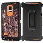 For Samsung Galaxy Note 4 Camo Military Defender Case Cover Belt Clip Holster
