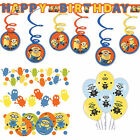 Despicable Me Minions Birthday Party Decoration Kit Balloons Banner Confetti