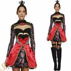 Ladies Sexy Queen Of Hearts Fairytale Book Week Fancy Dress Costume Outfit 8-18