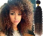 """Best Hair!Hot Ombre Brazilian Human Hair Extension 10""""-30""""Curly Wave 1B/30# Hair"""